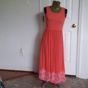 Jane Ashley Sleeveless Shirred Top Dress  * Size M